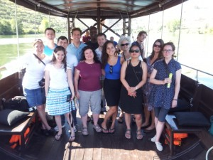 Group Photo on a boat in the Douro Valley