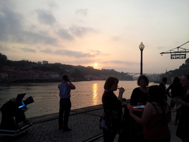Porto sunset with bloggers