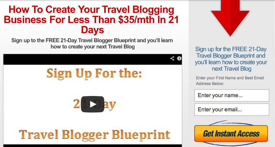21Day Travel Blogger Blueprint
