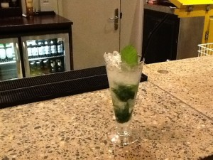 The Mojito I made At The Gibson Hotel Dublin, Ireland