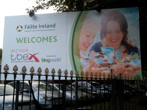 TBEX Welcome Sign