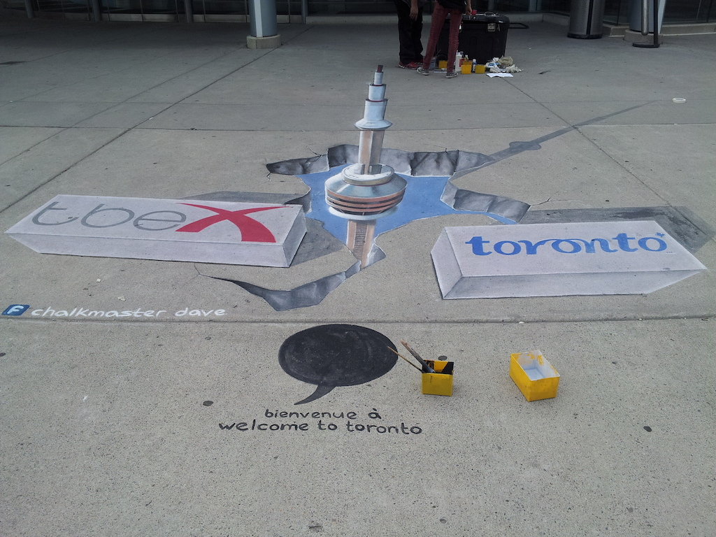 TBEX Toronto Welcome Painting