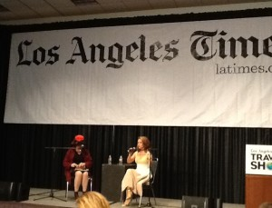 Alyssa Milano at The Los Angeles Times Travel Show