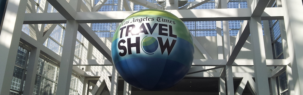 Los Angles Times Globe At The Los Angeles Times Show