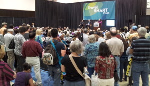 Standing Room Only At The Saving Money Talk at The Los Angeles Times Travel Show