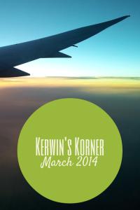 Kerwin's Korner March 2014