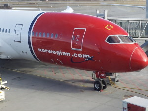 Norwegian Air Boeing 787-8 nose in OSL