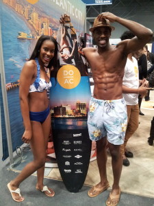 Models at Atlantic City, NJ booth at Times Travel Show