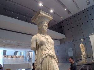 Lady of the Parthenon at the Parthenon Museum in Athens, Greece