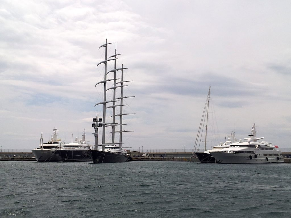 The Maltese Falcon in Athens Port