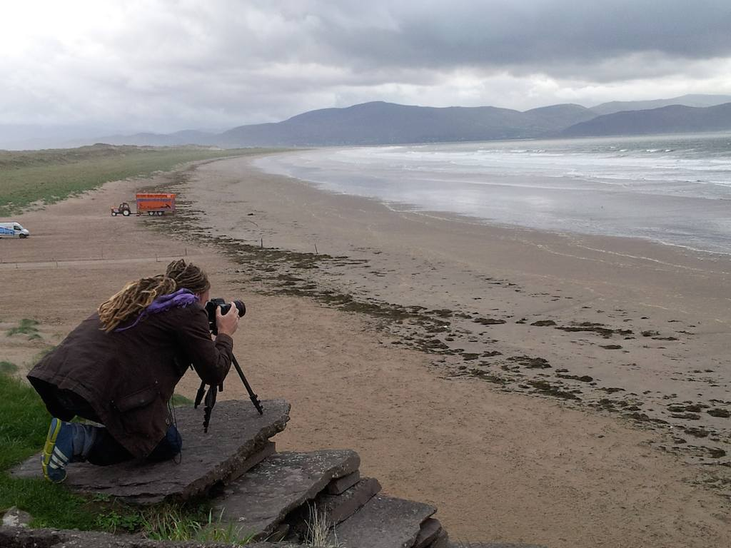 Travel Blogger Laurence on Inch Beach, Ireland