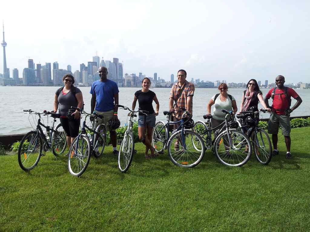 Travel Bloggers on Toronto Island, Toronto, ON Canada