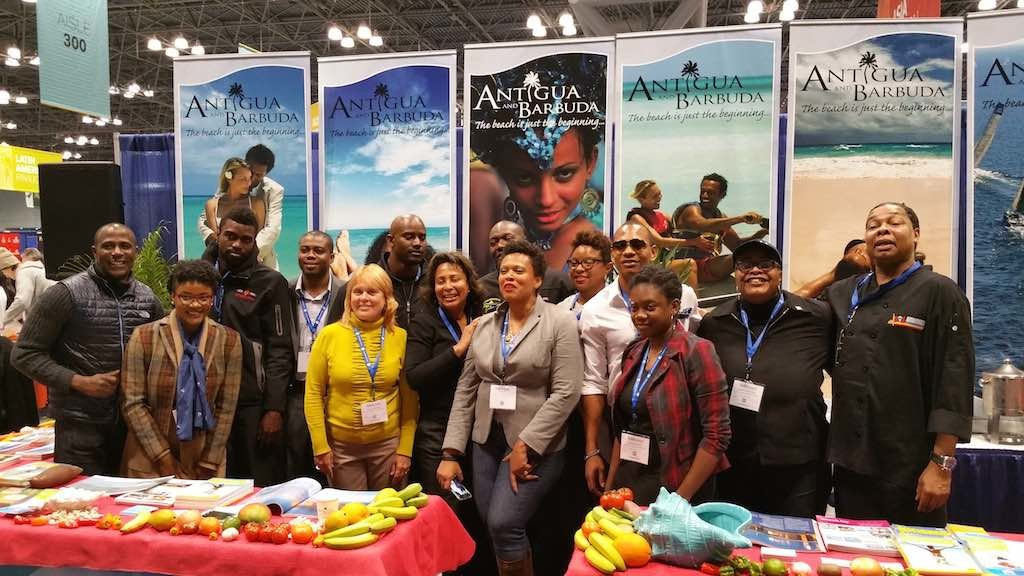 NY Times Travel Show 2015 Antigua and Barbuda with the Jamaica Bobsled Team