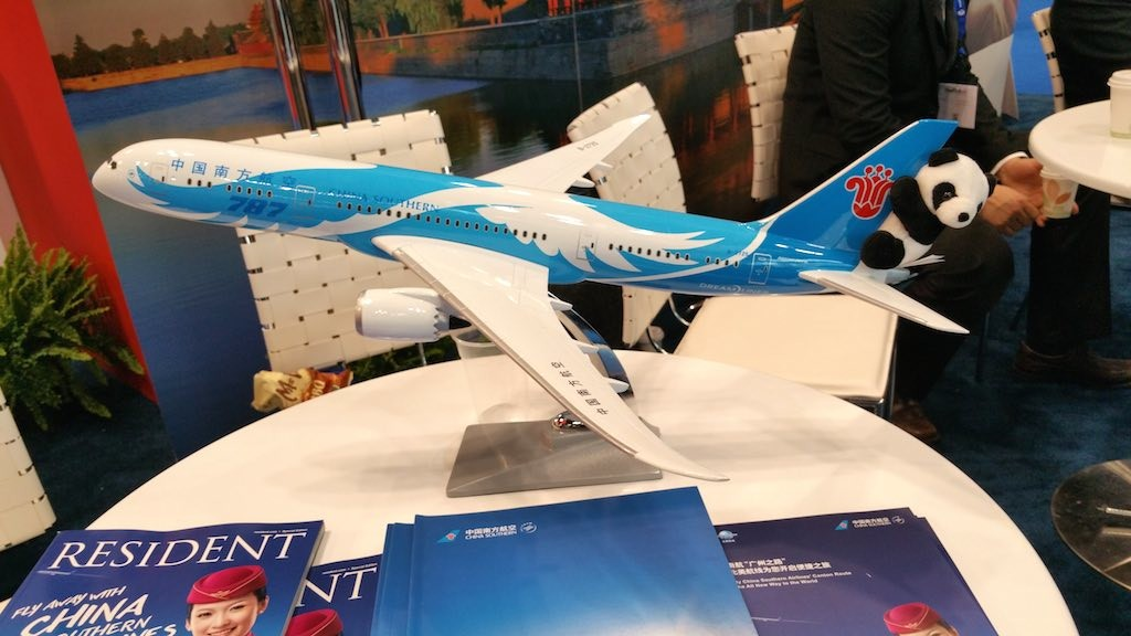 NY Times Travel Show 2015 - China Southern (CZ) Boeing 787