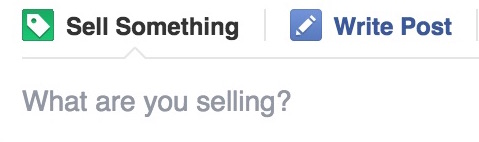 Facebook Sell Something section Feature