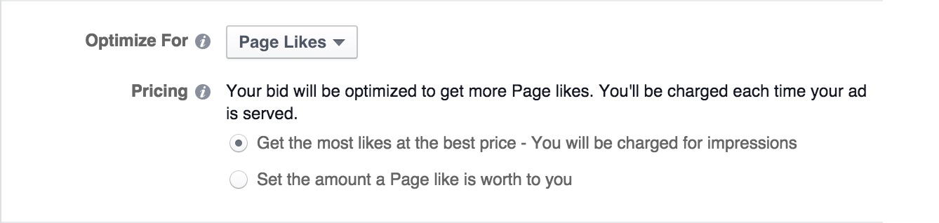 Facebook Ads - Optimize for Pricing Option