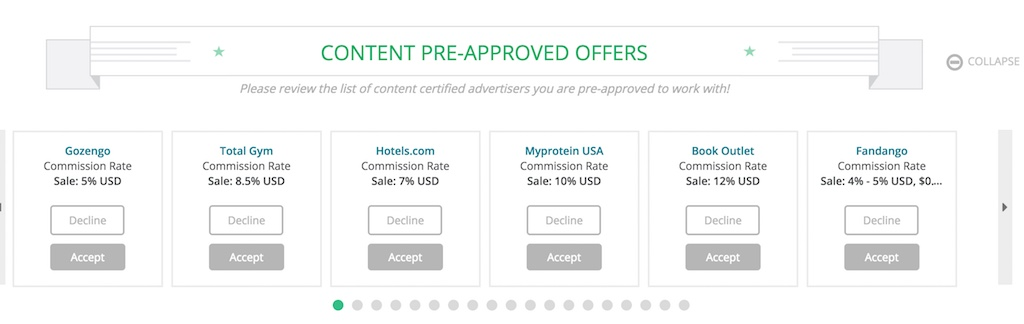 Content Pre-Approved Offers